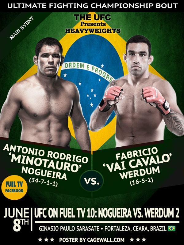 UFC on FUEL TV 10 неофициальный постер
